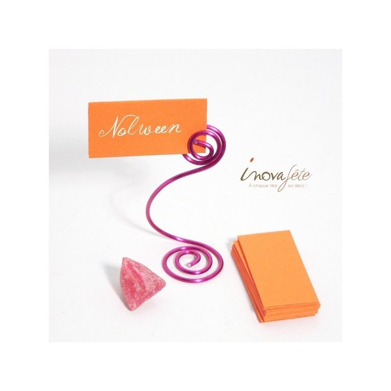 Etiquette rectangulaire orange /25