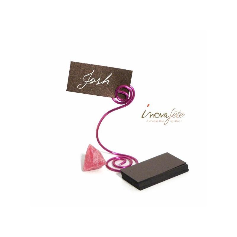 Etiquette rectangulaire chocolat /25