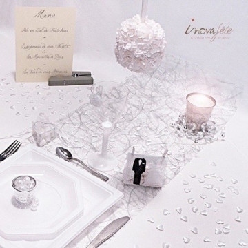 Anneau cristal fleurs et perles