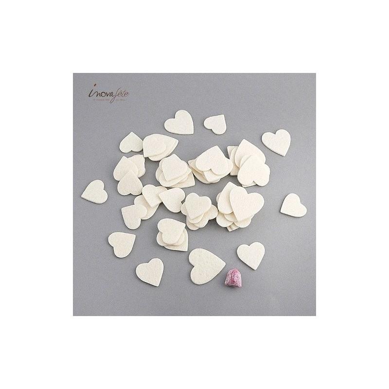 Coeur de feutre ivoire /45