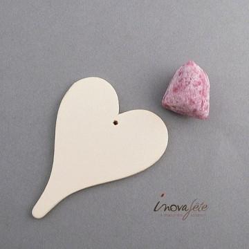 Coeur en bois ivoire /6
